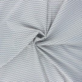 Elastane poplin cotton fabric - white Selmya x 10cm