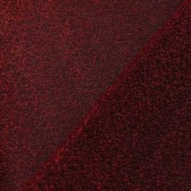 Tissu Lycra lurex disco rouge x 10cm