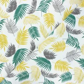 Tissu coton cretonne Cayenne - vert x 10cm