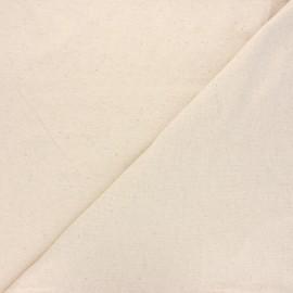 Mottled linen cotton jersey fabric - raw x 10cm