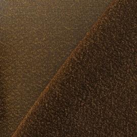 Tissu Lycra lurex disco doré jaune x 10cm