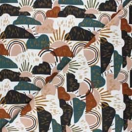 Tissu coton Cotton Steel Dear Isla - Hilltop - vert x 10cm