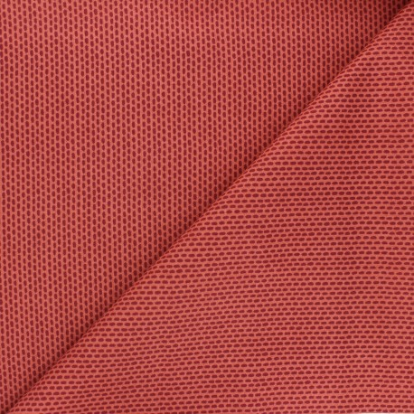 Tissu coton Cotton Steel Dear Isla - Morning dew - bordeaux x 10cm