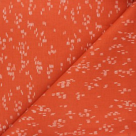 Tissu coton Cotton Steel Dear Isla - Haze - orange x 10cm