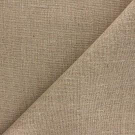 Tissu toile de chanvre - naturel x 10cm