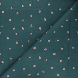 Tissu coton Cotton Steel Dear Isla - Posies - vert paon x 10cm