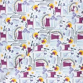 Cotton Steel cotton fabric Glory - purple Elsies cat x 10cm