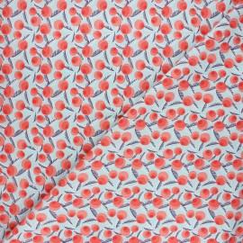 Tissu coton Cotton Steel Glory - Betty Jean - corail x 10cm