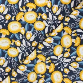 Cotton Steel cotton fabric Glory - midnight blue Isla x 10cm
