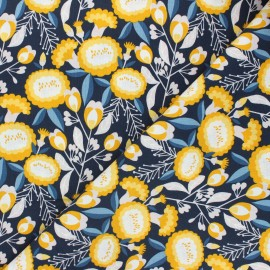 Tissu coton Cotton Steel Glory - Isla - bleu nuit x 10cm