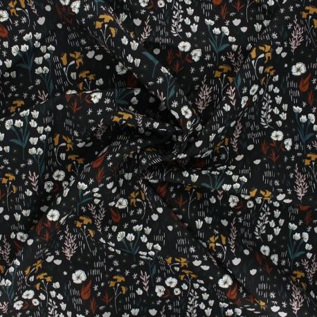 Tissu rayonne Cotton Steel Dear Isla - Meadow - noir x 10cm