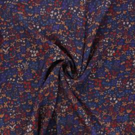 Tissu viscose Berthille - bleu marine x 10cm