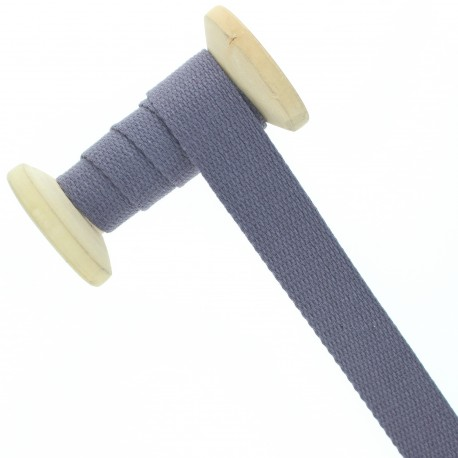 23 mm plain cotton Strap roll - amethyst