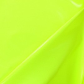 Interlock Vinyl Fabric - Fluo Yellow x 10cm
