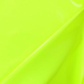 Tissu Vinyl Interlock jaune fluo