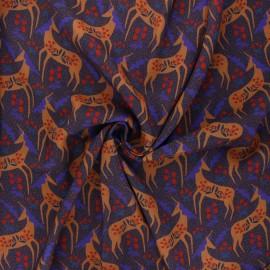 Tissu viscose Madame Iris - Merlin x 10cm