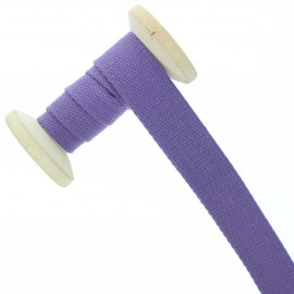 23 mm plain cotton Strap roll - lilac