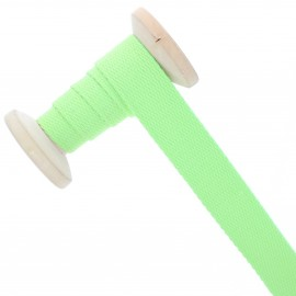 23 mm plain cotton Strap roll - Lime Green