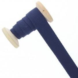 Sangle coton 23 mm - bleu outremer - bobine de 15 m