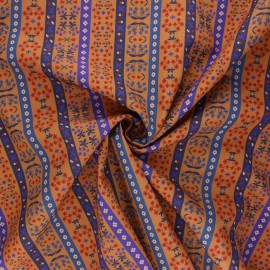 Tissu popeline de coton Madame Iris - Landry x 10cm