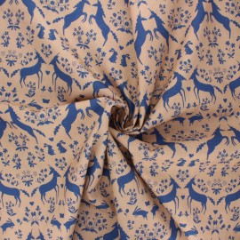 Tissu popeline de coton Madame Iris - Bathilde x 10cm