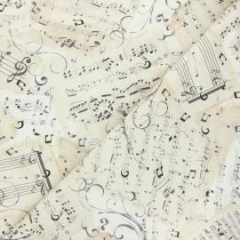 Tissu coton Timeless Treasures - Partitio - écru x 10cm