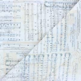 Tissu coton Timeless Treasures - Symphonia - blanc x 10cm