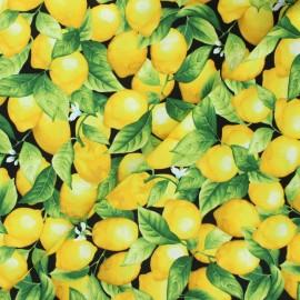 Timeless Treasures cotton fabric - black Lemon tree x 10cm