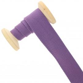 30 mm plain cotton Strap roll - lilac