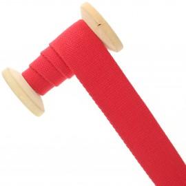 Sangle coton 30 mm - rouge - bobine de 15 m