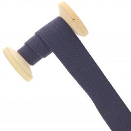 Sangle coton 30 mm - bleu outremer - bobine de 15 m