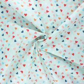 Tissu popeline de coton Stenzo Hearty - menthe x 10cm