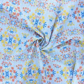 Tissu popeline de coton Madame Iris - Oumy x 10cm