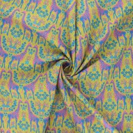 Tissu popeline de coton Madame Iris - Assa x 10cm