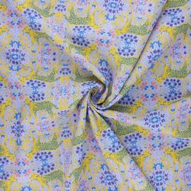 Tissu popeline de coton Madame Iris - Aya x 10cm