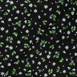 Tissu coton Timeless Treasures - Lemon flower - noir x 10cm