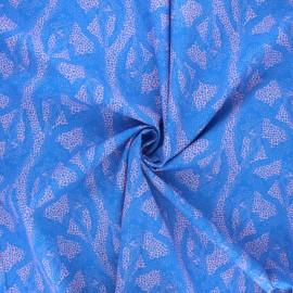 Tissu popeline de coton Madame Iris - Malia x 10cm