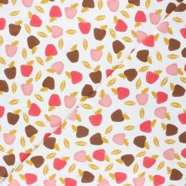 Tissu coton jersey Stenzo Sweet apple - blanc x 10cm