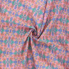 Tissu popeline de coton Madame Iris - Ayana x 10cm