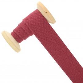 Sangle coton 30 mm - marsala - bobine de 15 m