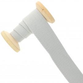 Sangle coton 30 mm - gris clair - bobine de 15 m