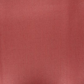 Coated washed linen fabric - brick red x 10cm