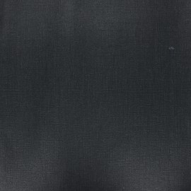 Coated washed linen fabric - black x 10cm