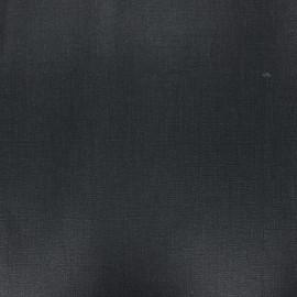 Tissu lin lavé enduit - noir x 10cm