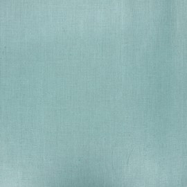 Coated washed linen fabric - celadon x 10cm