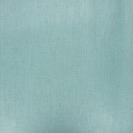 Tissu lin lavé enduit - céladon x 10cm