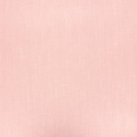 Coated washed linen fabric - light pink x 10cm