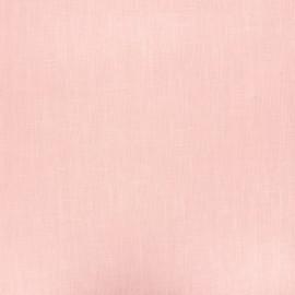Tissu lin lavé enduit - rose clair x 10cm