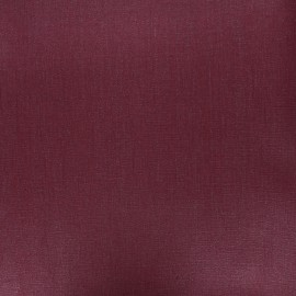 Coated washed linen fabric - wine x 10cm