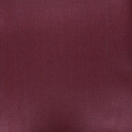 Tissu lin lavé enduit - lie de vin x 10cm